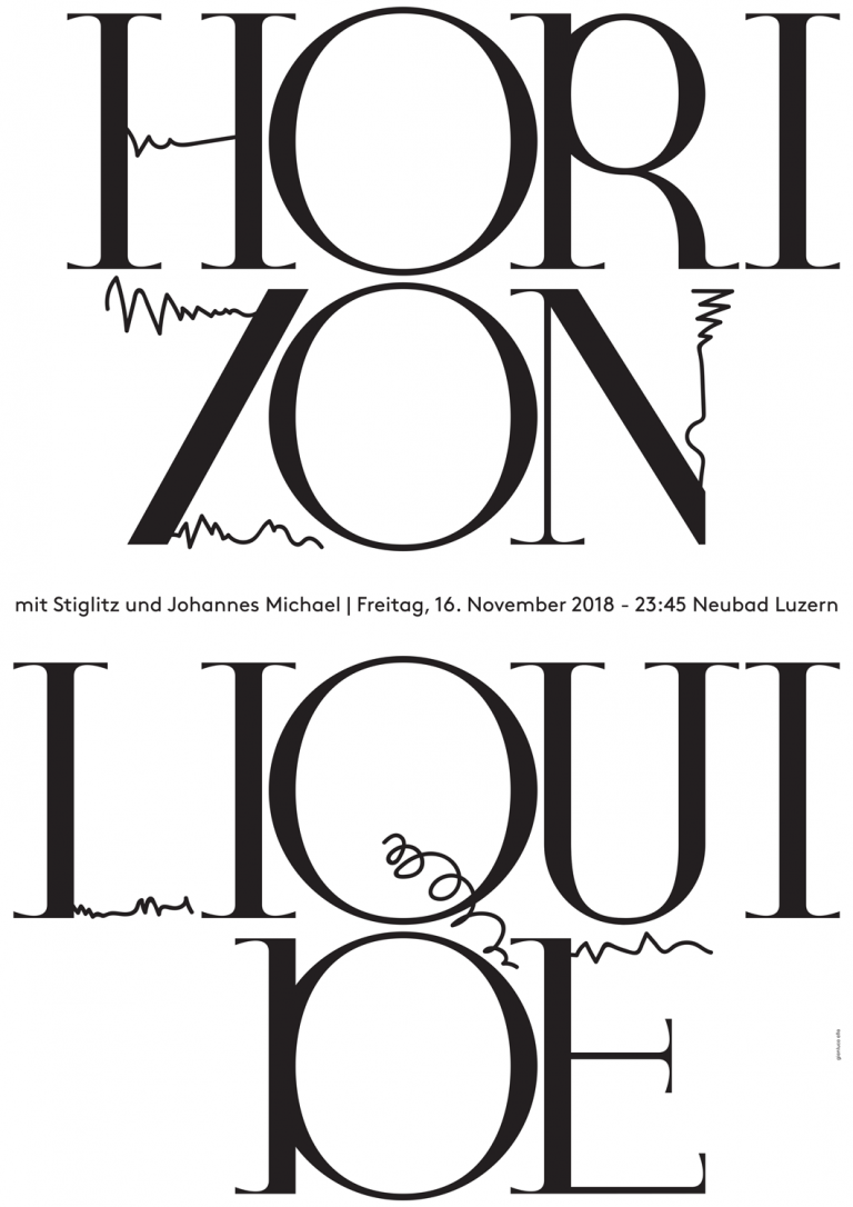 Horizon Liquide, poster designed for Neubad Bistrò