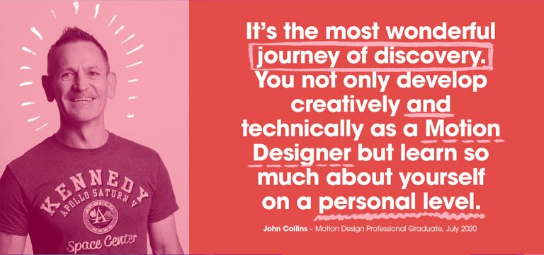 John Collins, Motion Design Professional testimonial Created