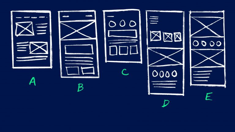 What is a UX Wireframe example.